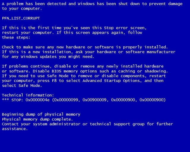 10 things that can trigger Windows Blue screen of death - Dignited