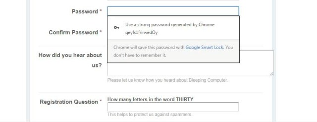 Chrome Password Management
