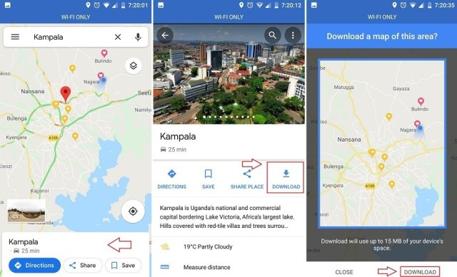 How to use Google Maps Offline - Dignited Download New Google Map on