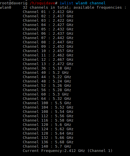 wifi channels linux