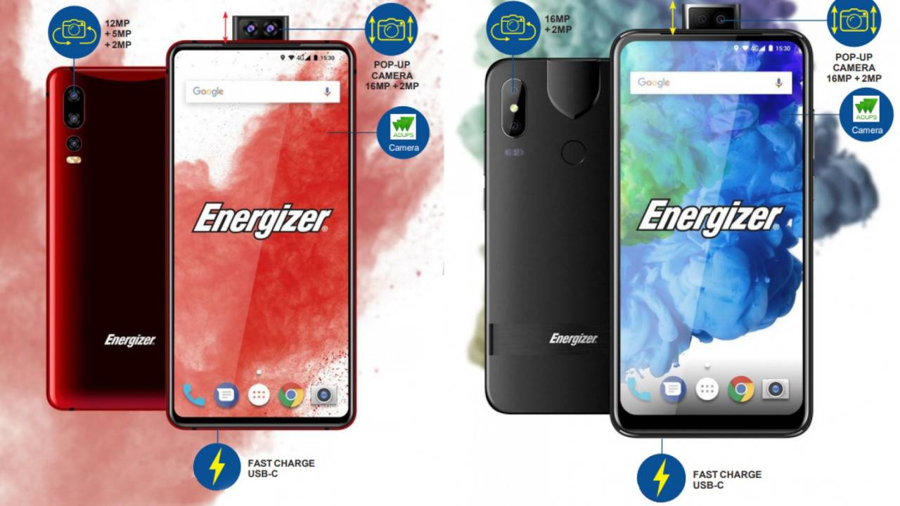 Energizer mobiles to feature pop-up cameras, 18,000mAh batteries and foldable displays