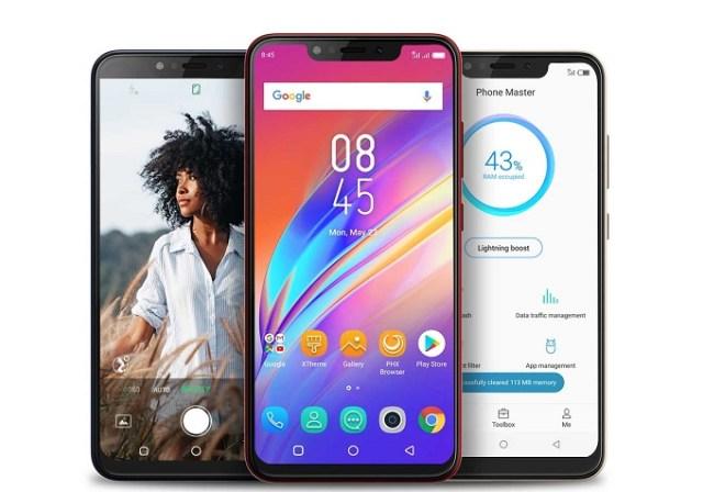 Infinix smartphone with big batteries