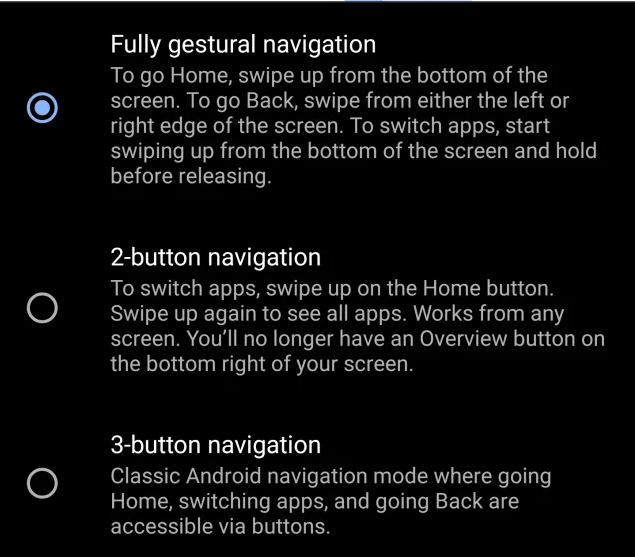 Android Q Beta 3 features