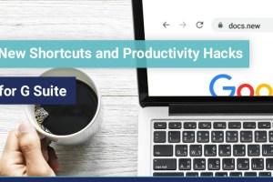 G Suite shortcuts