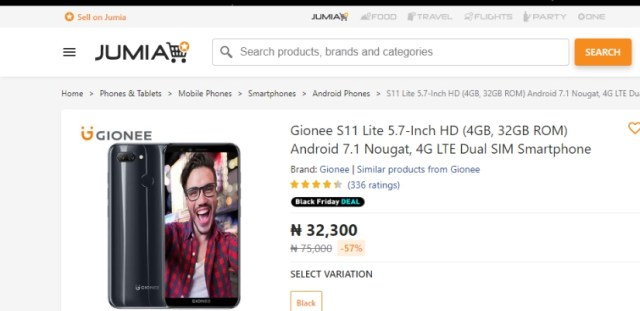Best Smartphones on Jumia Nigeria Black Friday