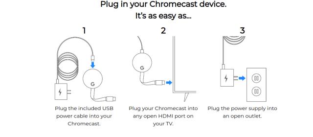 Setting up Google Chromecast