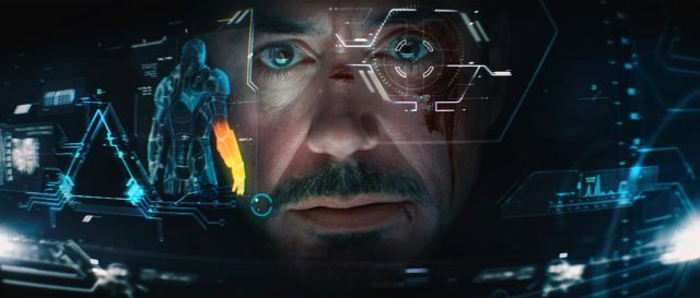 Scene in Iron Man 3 showing AR