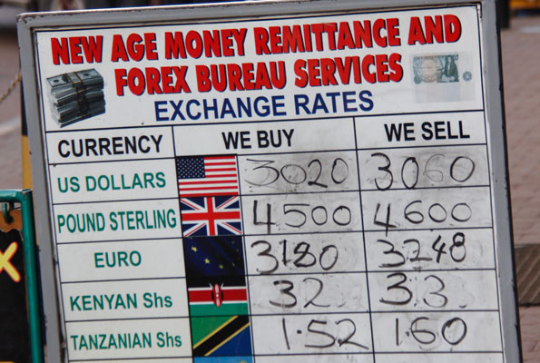 Photo Showing Forex Rates