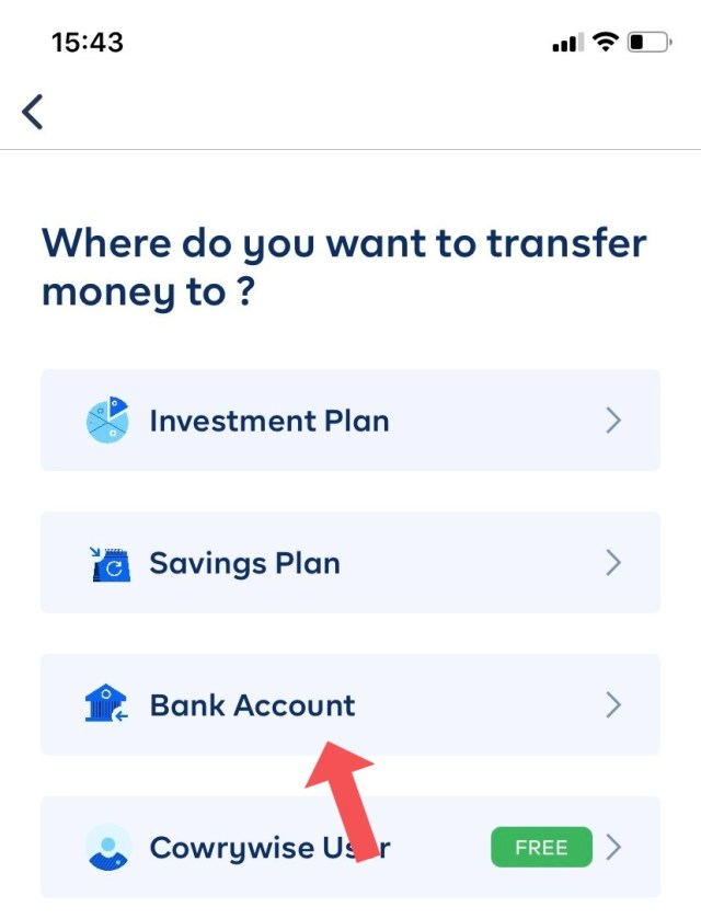 cowrywise app transfer money