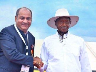 Udaipur Born Ugandan Business Leader Rajesh Chaplot honoured with the Highest Civilian Award of Uganda - Digpu