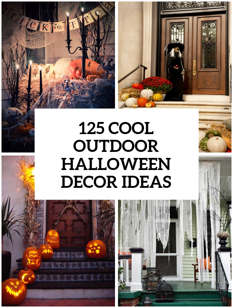 cool outdoor halloween decorating ideas