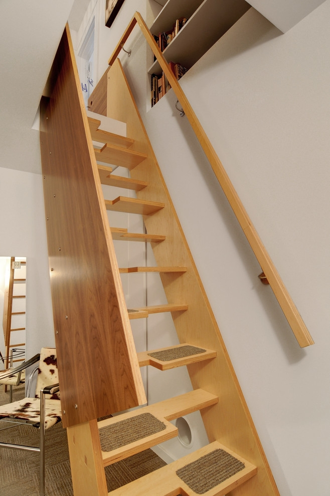 35 Really Cool Space Saving Staircase Designs Digsdigs | Stair Plans For Small Spaces | Residential | Simple | Backyard Cottage | Fine Homebuilding | Small Opening