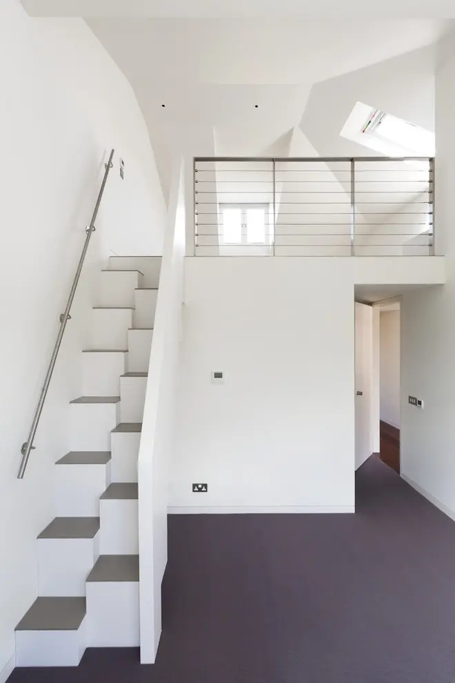 35 Really Cool Space Saving Staircase Designs Digsdigs   Space Saving Staircases For Small Homes   Design   Attic Ladder   Wood   Ladder   Loft Stairs