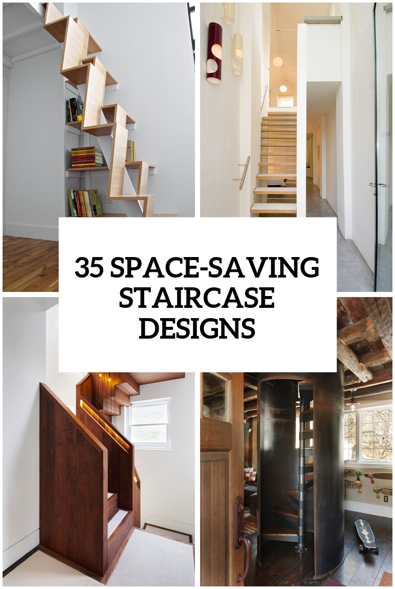 35 Really Cool Space Saving Staircase Designs Digsdigs | Space Saver Staircase Plans | Stair Case | Storage | Spiral Staircases | Landing | Staircase Ideas