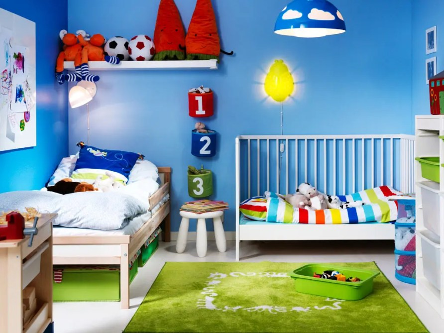 33 Wonderful Shared Kids Room Ideas | DigsDigs