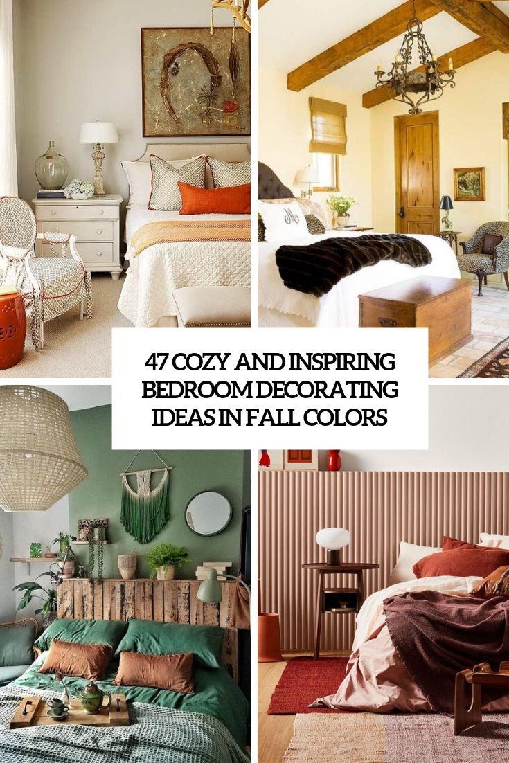 47 Cozy And Inspiring Bedroom Decorating Ideas In Fall