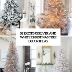 53 Exciting Silver And White Christmas Tree Decor Ideas Digsdigs