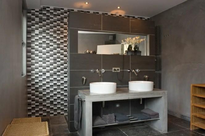 Bathroom Decorating Ideas Masculine concrete bathroom walls diy : brightpulse
