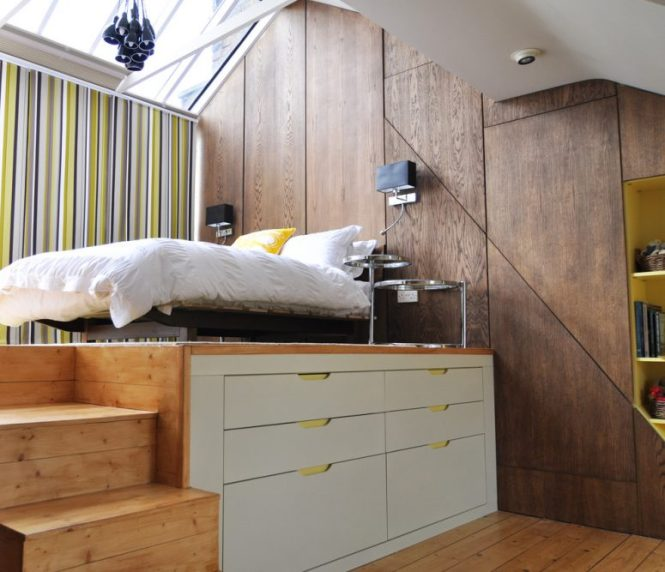 You Can Doulbe A Small Bedrooms E By Buiding Storage Sleeping Platform 57 Smart