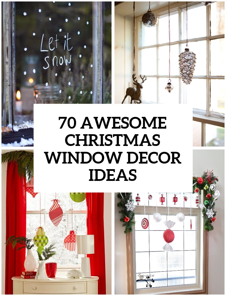 Holiday window decorations ideas for Christmas mural ideas