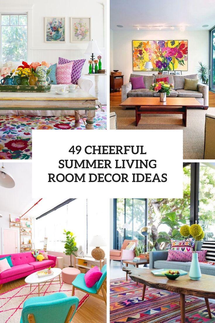 49 cheerful summer living room decor