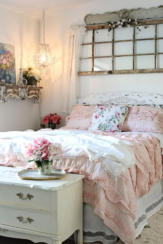 53 sweet shabby chic bedroom decor