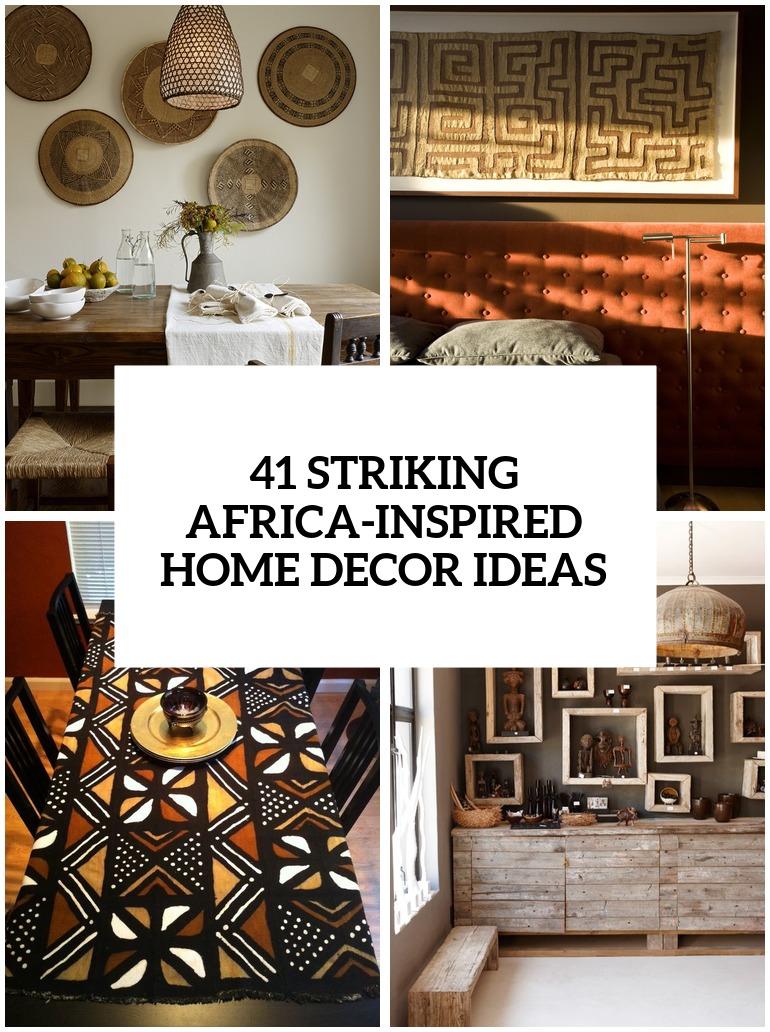 Bathroom African Inspired Decor