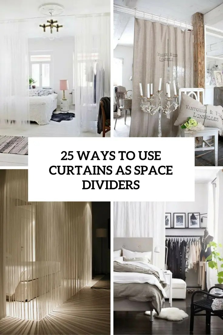 use curtains as space dividers