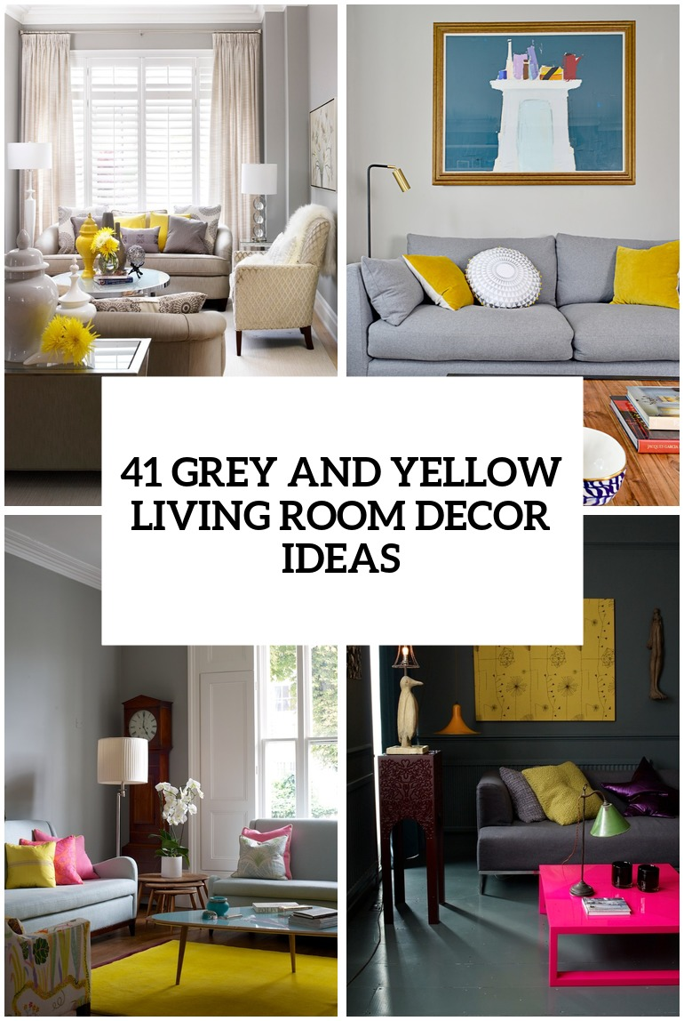 29 Stylish Grey And Yellow Living Room D    cor Ideas   DigsDigs stylish grey and yellow living room decor ideas cover
