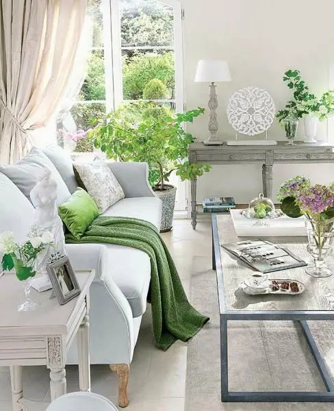 30 Green And Grey Living Room Décor Ideas Digsdigs Part 52