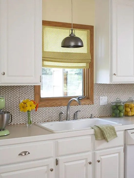 creative penny tiles ideas for kitchens