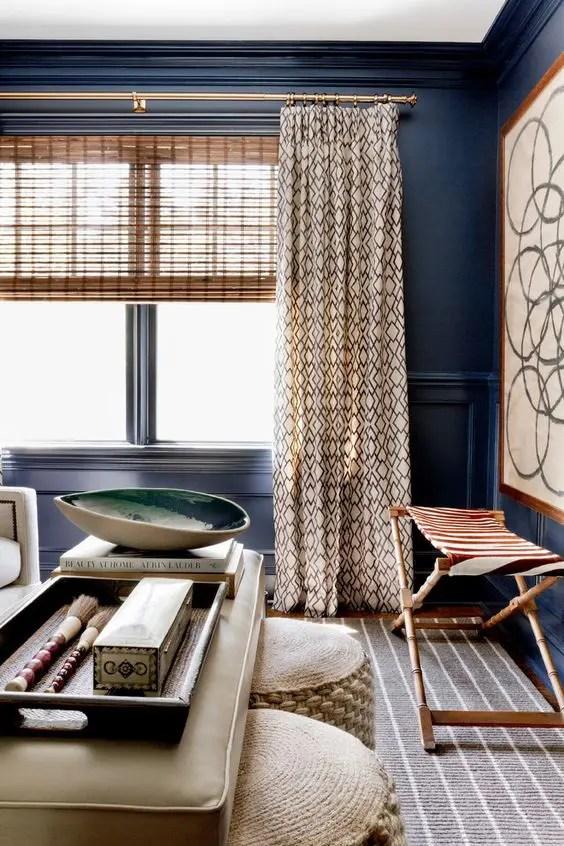 living room brown and blue Centerfieldbarcom
