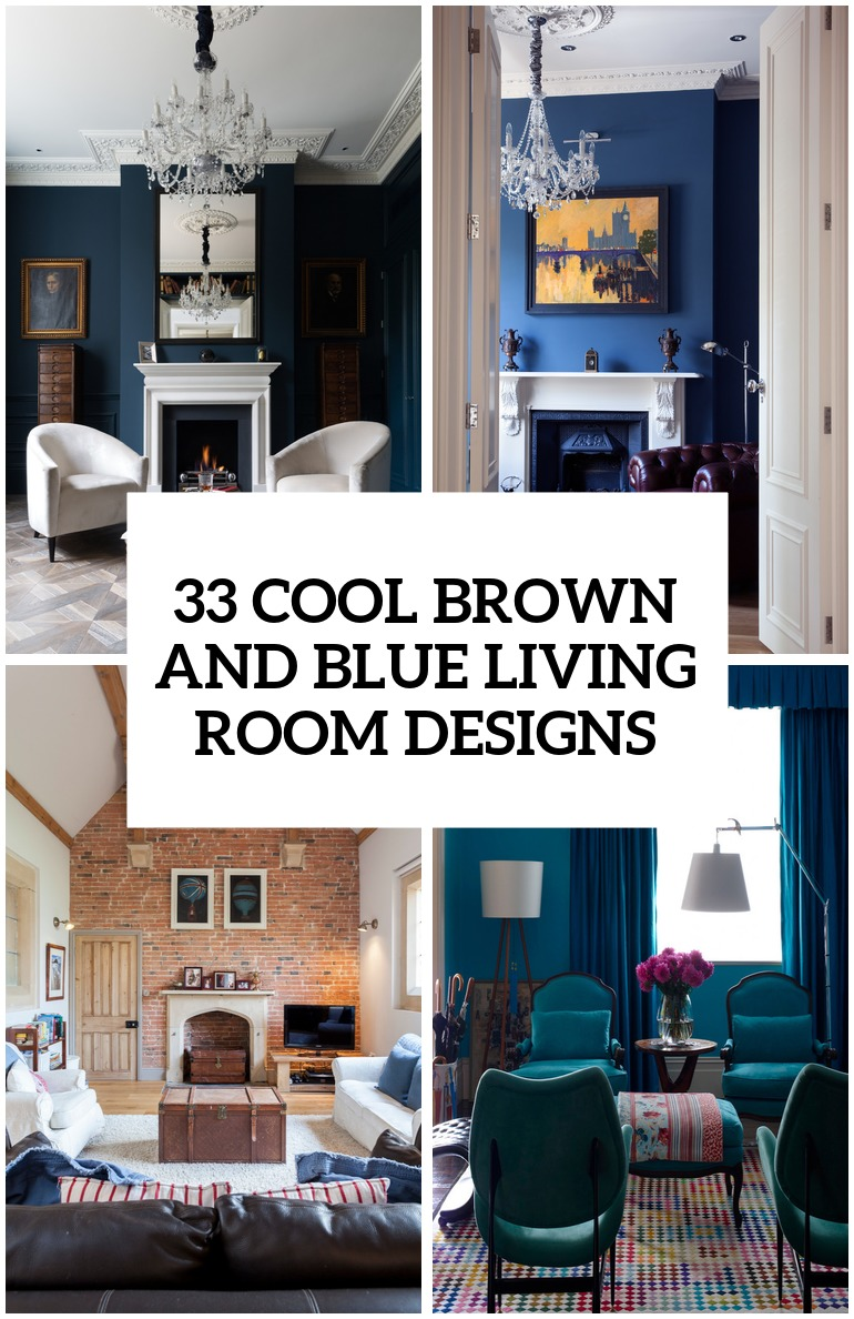 26 Cool Brown And Blue Living Room Designs   DigsDigs cool brown and blue living room designs cover