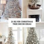 21 Silver Christmas Tree Decor Ideas Digsdigs