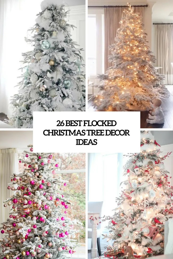decorated frosted christmas tree. Black Bedroom Furniture Sets. Home Design Ideas