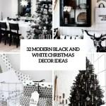 32 Modern Black And White Christmas Decor Ideas Digsdigs