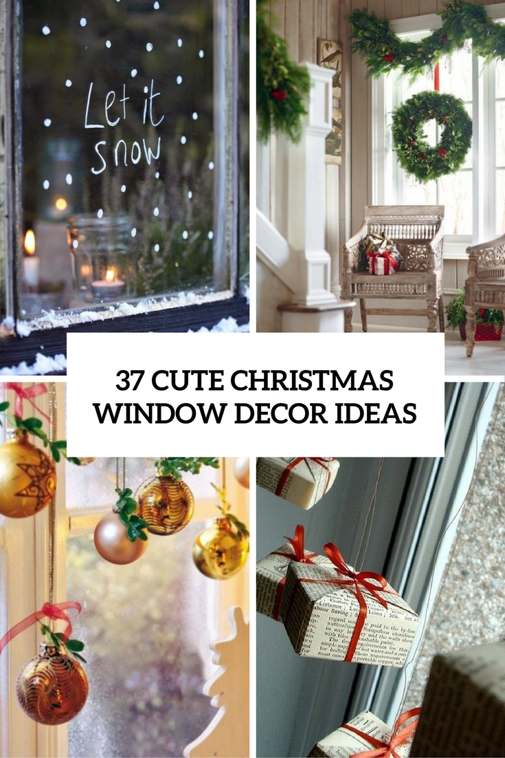 37 Cute Christmas Window D 233 Corations Digsdigs