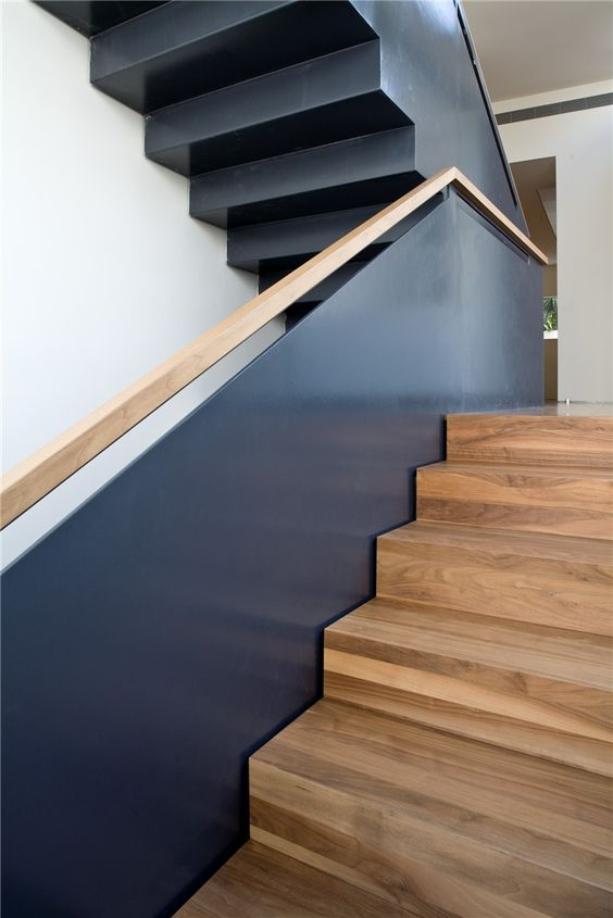 30 Stylish Staircase Handrail Ideas To Get Inspired Digsdigs | Wood And Metal Handrail | Interior | Iron Railing | Architectural Modern Wood Stair | Stainless Steel | Traditional