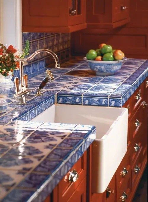 Hot Dcor Trend 24 Tile Kitchen Countertops DigsDigs
