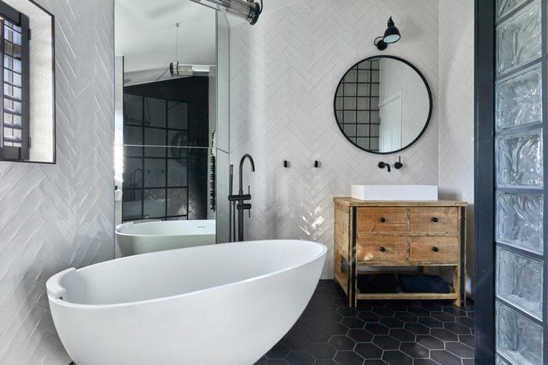 hexagon tiles ideas for bathrooms