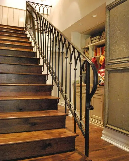 33 Wrought Iron Railing Ideas For Indoors And Outdoors | Iron And Wood Staircase | Traditional | Spiral | White | Internal | Cherry Wood