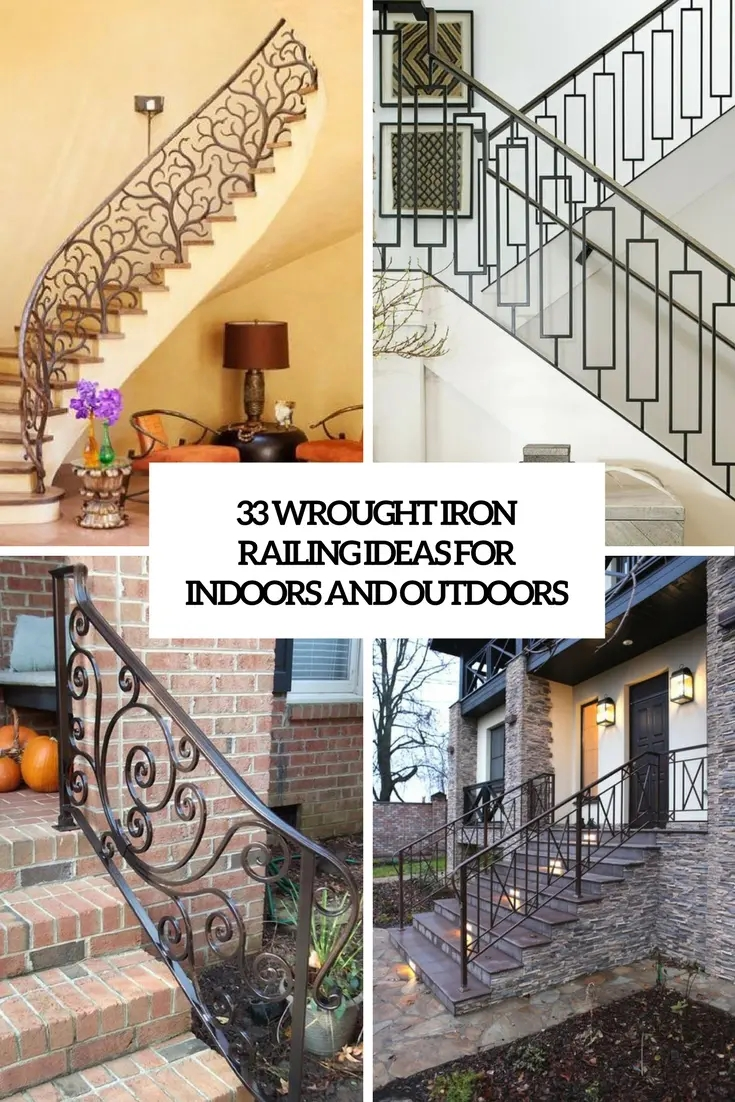 33 Wrought Iron Railing Ideas For Indoors And Outdoors | Handrails For Steps Indoors | Staircase Around Lift Wall | Glass Panel Stainless Steel Handrail | Narrow Staircase Brushed Nickel | Width Hand | Minimalist