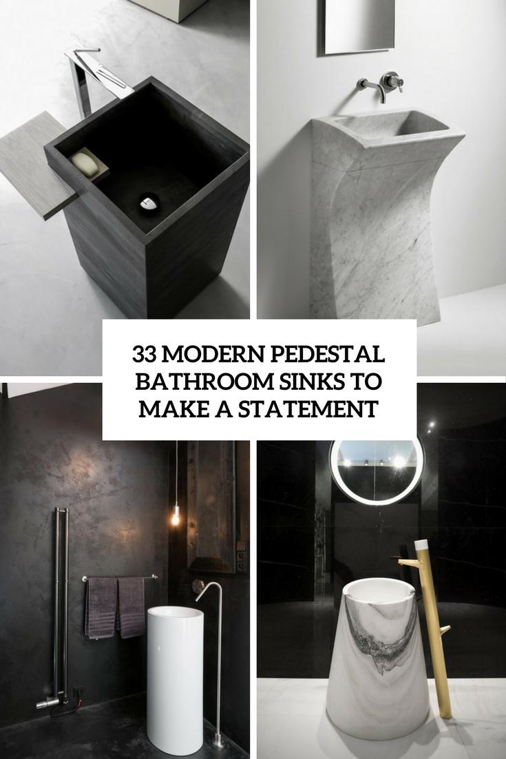 33 modern pedestal bathroom sinks to