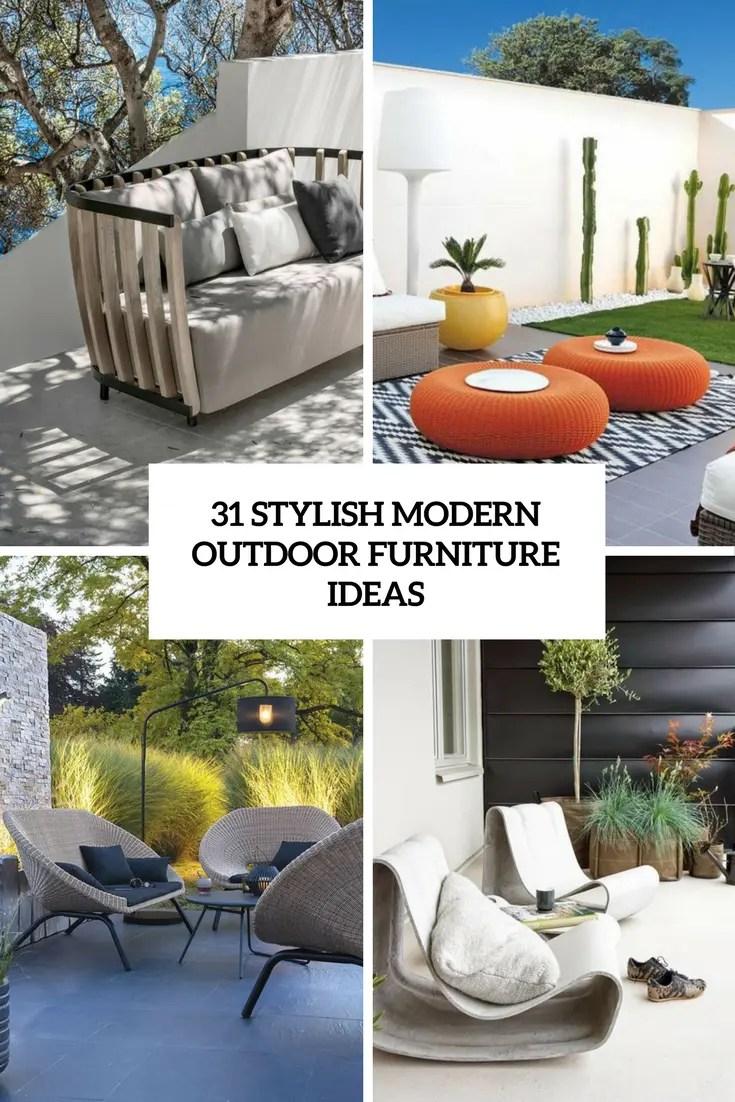 stylish modern outdoor furniture ideas