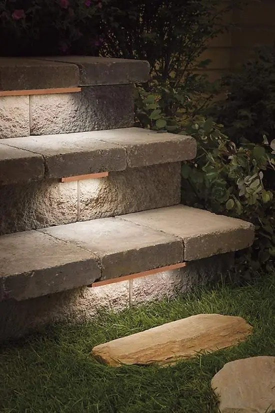 27 Smart Ways To Illuminate An Outdoor Space Digsdigs | Granite Stone Steps Outdoor