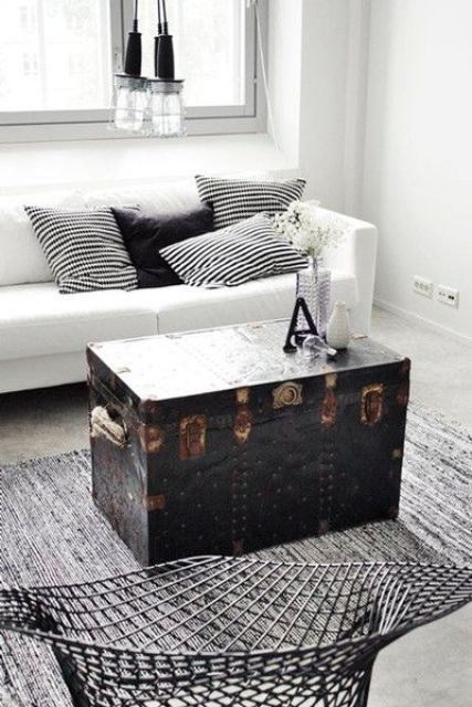 vintage chests and trunks in home decor