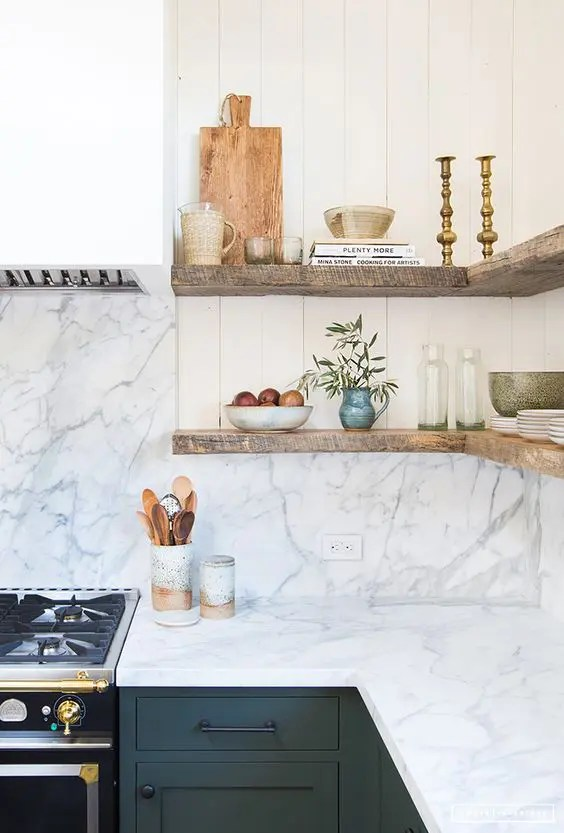 25 marble kitchen backsplashes for a