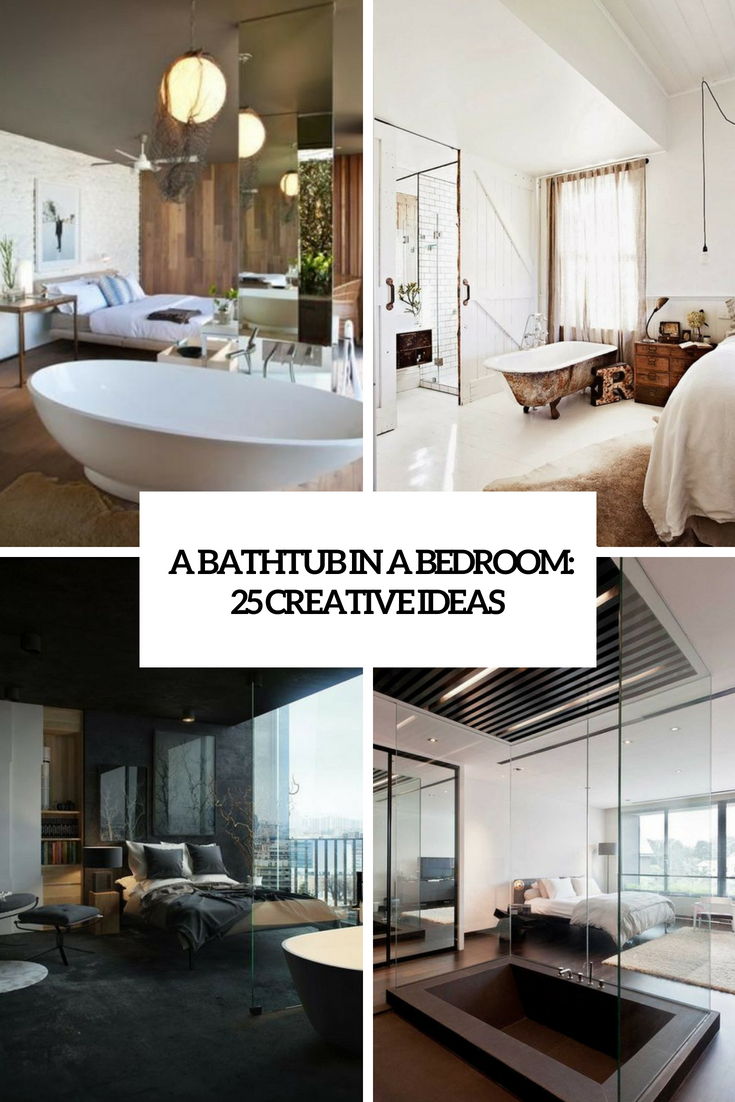a bathtub in a bedroom 25 creative