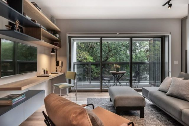 Small Contemporary Apartment With A Large Balcony Digsdigs