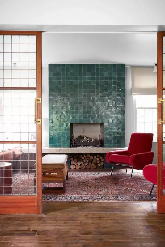 jaw dropping colorful fireplace designs